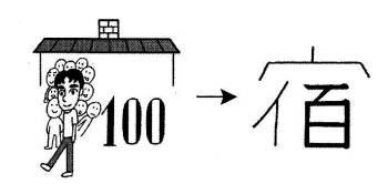 kanji 宿