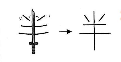 kanji 半