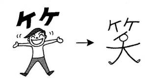 kanji 笑