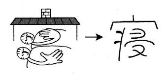kanji 寝