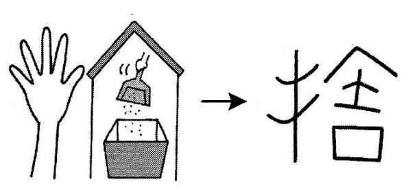 kanji 捨