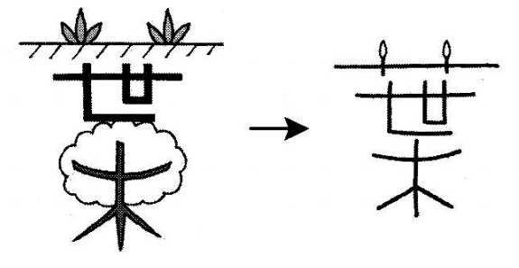kanji 葉