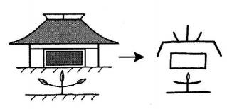 kanji 堂