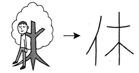 kanji 休
