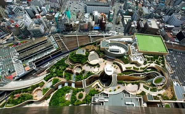 namba osaka 1 Công viên Namba ở Osaka Nhật Bản