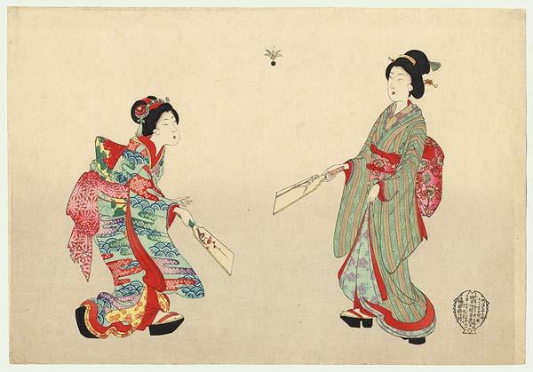 caulong Hanetsuki nhatban Độc đáo cầu lông Hanetsuki Nhật Bản