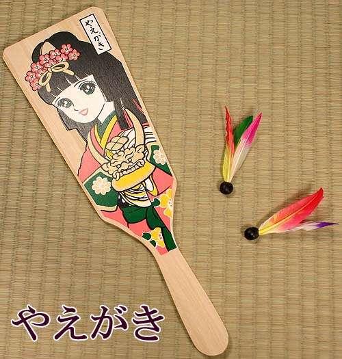 Hagoita 1 Hagoita – Vật may mắn của các bé Nhật Bản