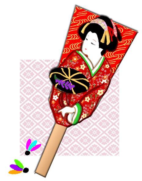 Hagoita 2 Hagoita – Vật may mắn của các bé Nhật Bản