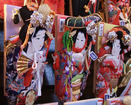 Hagoita Hanetsuki 1 Hagoita – Vật may mắn của các bé Nhật Bản