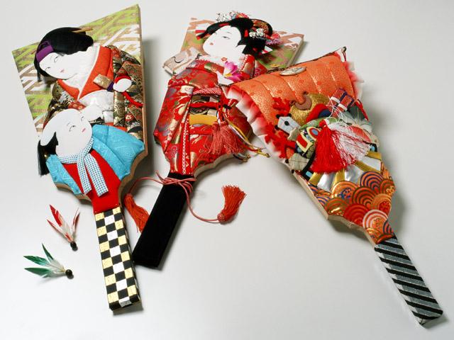 Hagoita 3 Hagoita – Vật may mắn của các bé Nhật Bản