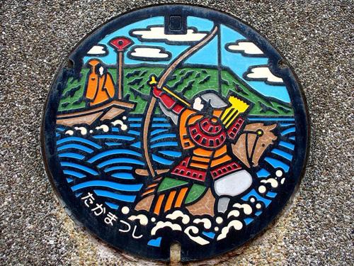 nghe thuat tren nhung nap cong o nhat ban 7 Nghệ thuật trên những nắp cống ở Nhật Bản