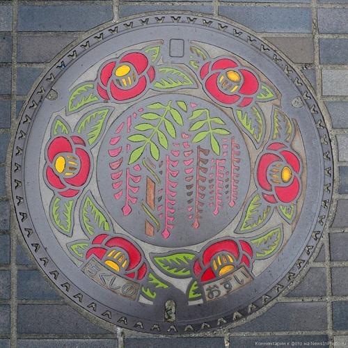 nghe thuat tren nhung nap cong o nhat ban 10 Nghệ thuật trên những nắp cống ở Nhật Bản