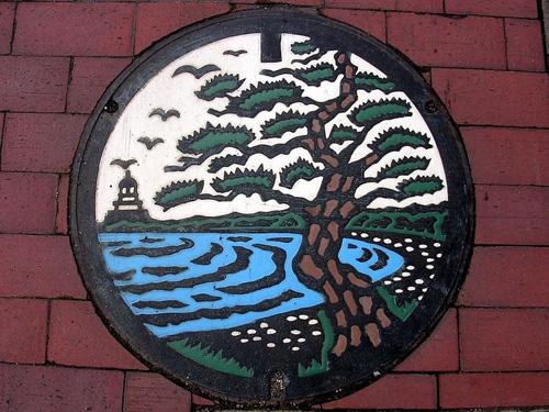 nghe thuat tren nhung nap cong o nhat ban 13 Nghệ thuật trên những nắp cống ở Nhật Bản