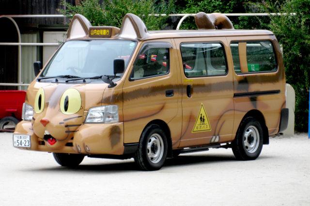 Totoro Neko bus Những chiếc xe buýt đáng yêu tại Nhật Bản