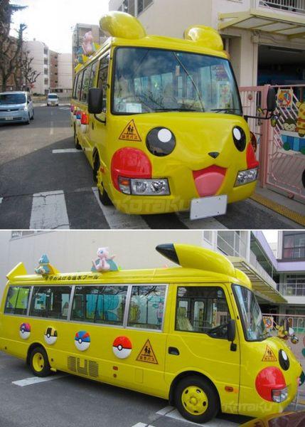 Pokemon bus Những chiếc xe buýt đáng yêu tại Nhật Bản