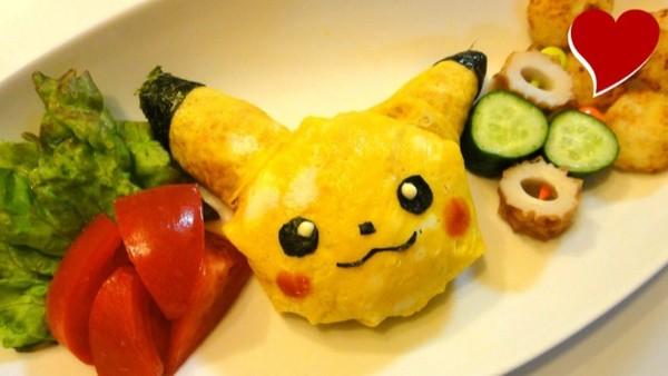 Omurice Pikachu Những món Omurice được trang trí vô cùng đáng yêu