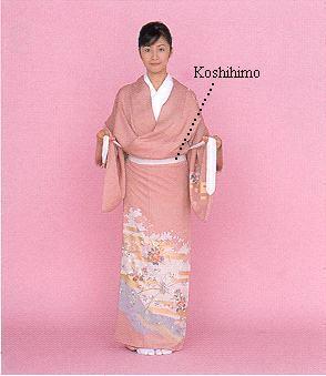 Koshi himo Những phụ kiện của kimono Nhật Bản