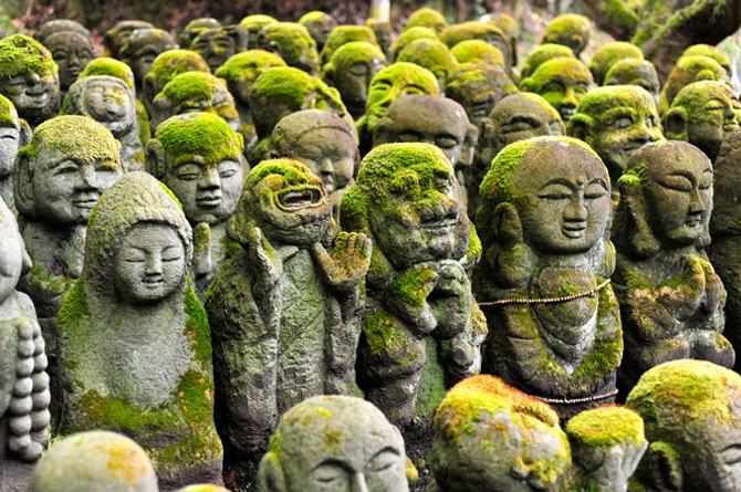 tuong da chua Otagi Nenbutsu Ji 1 Tượng đá hài hước ở ngôi chùa Otagi Nenbutsu Ji