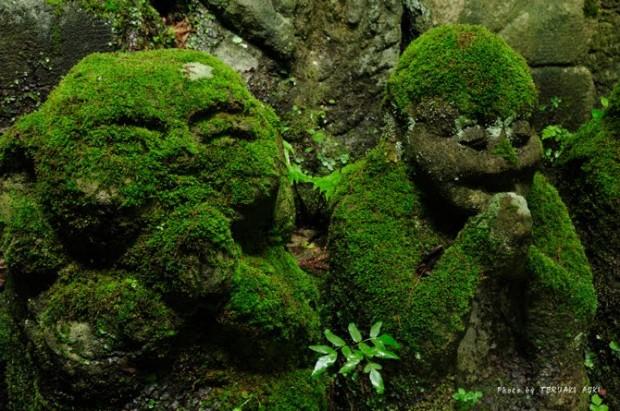 tuong da chua Otagi Nenbutsu Ji 8 Tượng đá hài hước ở ngôi chùa Otagi Nenbutsu Ji