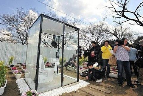 toilet trong suot nhat ban Văn hóa toilet của người Nhật