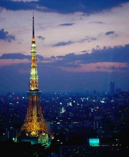 thaptokyo duhochoasen2 Tháp Tokyo  biểu tượng của thành phố Tokyo Nhật Bản .