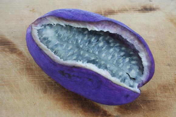 trai cay Akebi Trái cây Akebi Nhật Bản