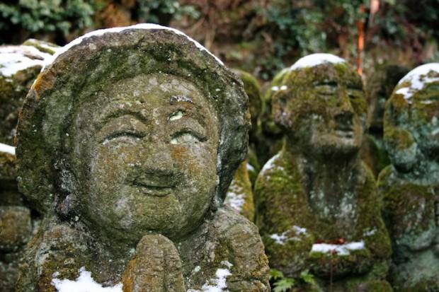 tuong da chua Otagi Nenbutsu Ji 2 Tượng đá hài hước ở ngôi chùa Otagi Nenbutsu Ji